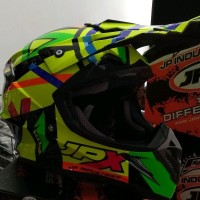 Helm cross Jpx Motif X4 Warna Kuning Glossy