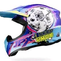 Helm cross jpx Need race warna tosca Ungu glossy