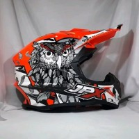Helm cross JPX Helm Full face X13 Sevenday Glossy Red