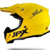 Helm cross Jpx Fox 1 warna kuning lemon