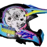 Helm cross jpx Need Race warna Tosca Hitam glossy