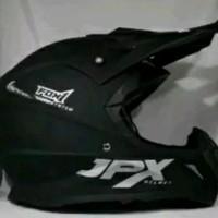 Helm cross JPX motif Fox warna Hitam Doof