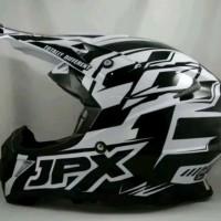 helm cross JPX motif X12 Warna Putih doof