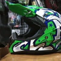 Helm cross jpx Grafity warna Hijau