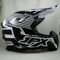 Helm cross JPX Helm Full face Fox 1 Doof white