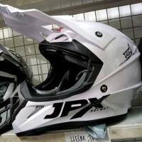 Helm cross jpx FoX 1 warna Putih Glossy