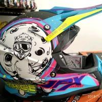 Helm cross jpx Motif Motorcross Warna Biru