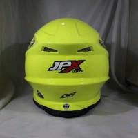 Helm cross jpx FOX 1 Warna Kuning kilat