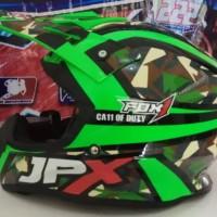 Helm cross jpx Fox 2 Florescent Green