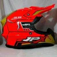 Helm cross JPX Helm Full face X9 Glossy Red