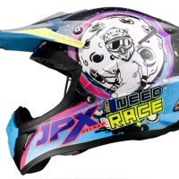 Helm cross jpx Need Race Warna Tosca Hitam doof