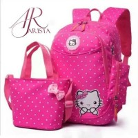 TERMURAH TAS ANAK BACKPACK HELLO KITTY 3IN1 BY ARISTA