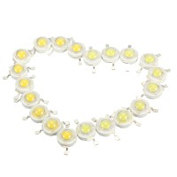 10pcs 3W LED Lamp Bulb Chips 200-230Lm White/Warm White
