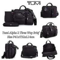 Tas TUMI Grade ORI Mirror Import 2 Three Way Brief Pria Laptop Handbag