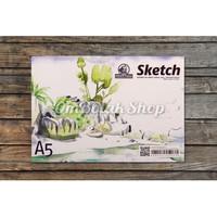 Buku Gambar & Sketsa A5 25 lembar utk Cat Air Pensil Pen Sketch Book