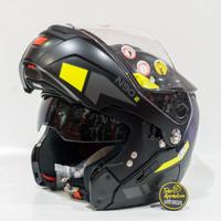 Helm Nolan N90.2 Euclid - 027 - Flat Black Yellow