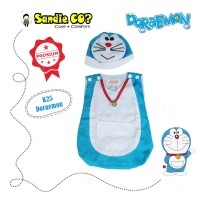 Kostum Baju anak bayi laki-laki pesta Karakter Movie Doraemon lucu