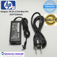 Adaptor HP 19.5v-2.31A Blue pin (4.5*3.0mm) + kabel power