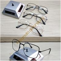 kacamata frame kotak besi ringan