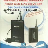 Mic Jepit Wireless Aiwa NA-801 VHF Naiwa Clip On Microphone Wireless