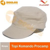 Topi Pet Komando Procamp Lapangan Outdoor Gunung Hiking fashion krem