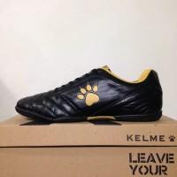 Sepatu Futsal Kelme Power Grip Black Gold 1102091 Original BNIB