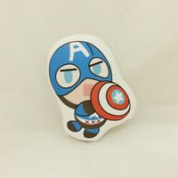 Bantal Boneka Dekorasi Superhero - Large Captain Amerika Chibi