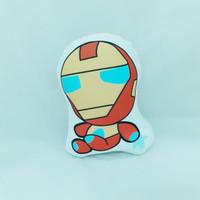 Bantal Boneka Dekorasi Superhero - Large Iron Man Chibi