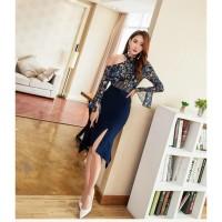 Kaos wanita Korea Midi Skirt/Rok Mid 446 (B) Baju wanita