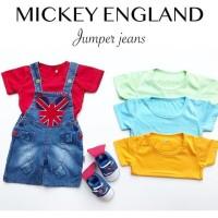 Mickey England Jeans Jumper / Overall Bayi / Overall Anak / Baju Bayi