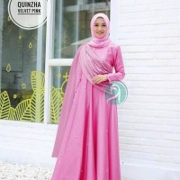Baju Muslim Gamis Syari Pesta Wanita Maxi Quinzha Terbaru