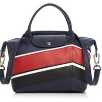 Long Champ Le Pliage Cuir Chevron Small