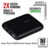 Aukey PB-N42 Pocket Powerbank 10000mAh - Hitam