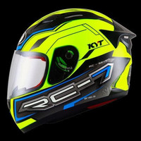 HELM KYT RC Seven # 14 - Yellow Fluo/Black/Blue