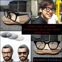 kacamata frame gm + lensa fotocromic rubah warna minus dan normal
