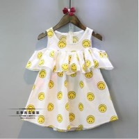 Dress Anak Perempuan / Baju Anak Bayi Sabrina Cute Smile Import (A399)