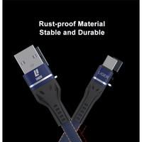 LIGER L-130 Kabel Data Fast Charging Denim USB - TIPE C