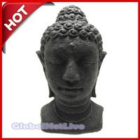 Miniatur patung Kepala Budha. Patung Pahat Batu. souvenir pajangan