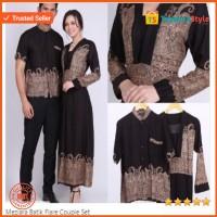 Gamis Couple Elegan Batik Setelan Batik Atasan Batik