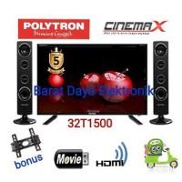 STOK TERBARU POLYTRON TV LED 32 inch PLD32T1500 SPEAKER TOWER GAR