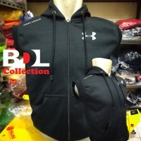 Jaket Rompi Sweater Hoodie Vest Zipp Under Armour GYM