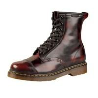 Sepatu Kulit Custom | Sepatu Kulit Pria | Docmart Hitam Kemerahan