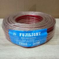 kabel Wayar Audio Transparan Ukuran 2x80 Per Roll 30 Meter Fujilight
