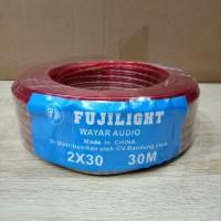 kabel Wayar Audio Transparan Ukuran 2x30 Per Roll 30 Meter Fujilight