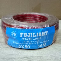 kabel Wayar Audio Transparan Ukuran 2x50 Per Roll 30 Meter Fujilight
