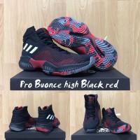Sepatu Basket Adidas Pro Bounce 18 Black Red