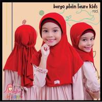 Jilbab Hijab Kerudung Anak Bergo plain laura Miulan kids