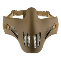 Masker Airsoft Tactical Mask Half Face Double Protect Asli Import
