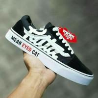 Vans Patta Mean Eyed Cat Black white For man/Sepatu Jalan 2
