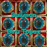 Cincin Batu Bullmon Biru Topaz